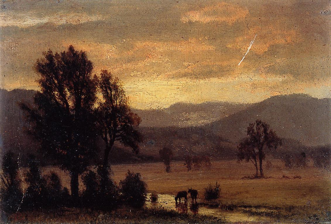 Landscape with Cattle | Albert Bierstadt | Oil Painting