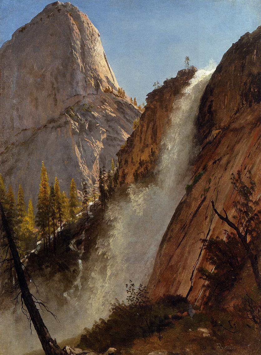 Liberty Cam Yosemite 1873   Albert Bierstadt   Oil Painting