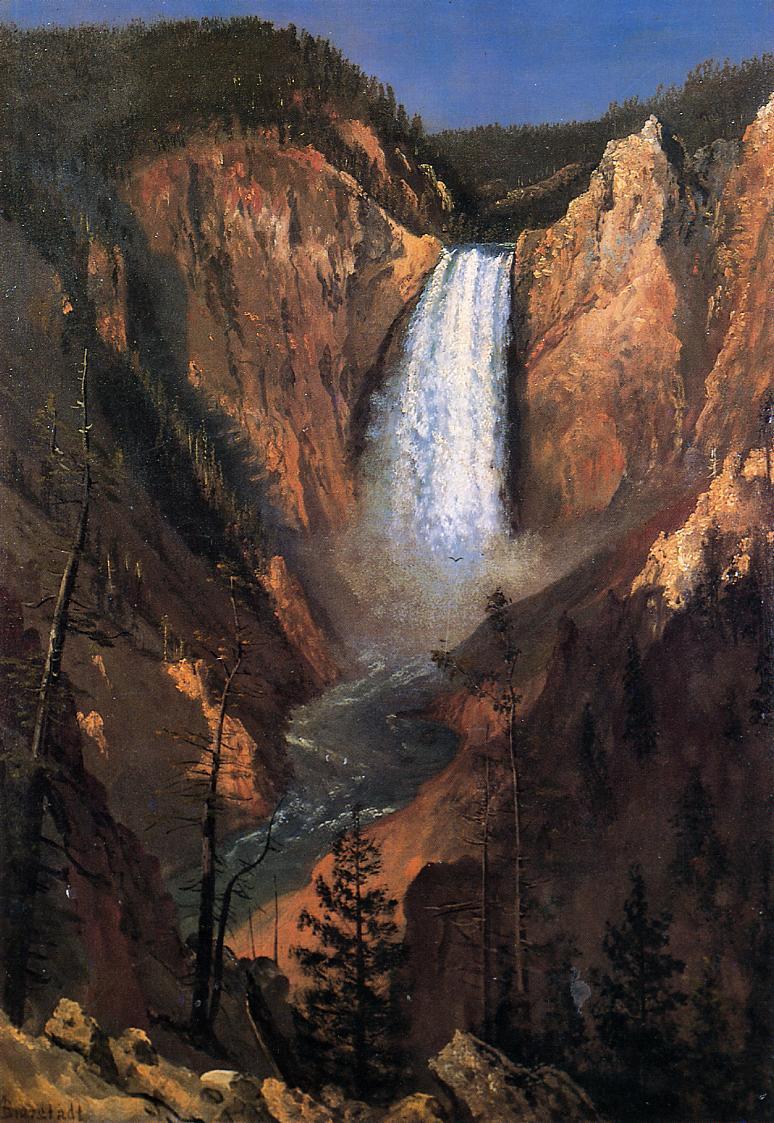 Lower Yellowstone Falls 1881   Albert Bierstadt   Oil Painting