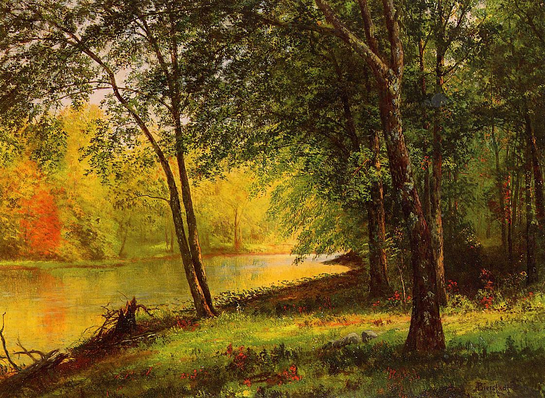 Merced River California   Albert Bierstadt   Oil Painting