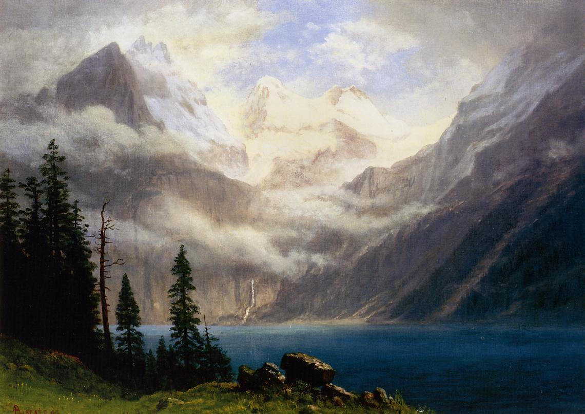 Mountain Scene 1871-1879 | Albert Bierstadt | Oil Painting