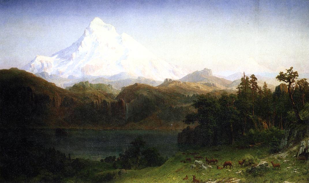 Mount Hood Oregon 1865 | Albert Bierstadt | Oil Painting
