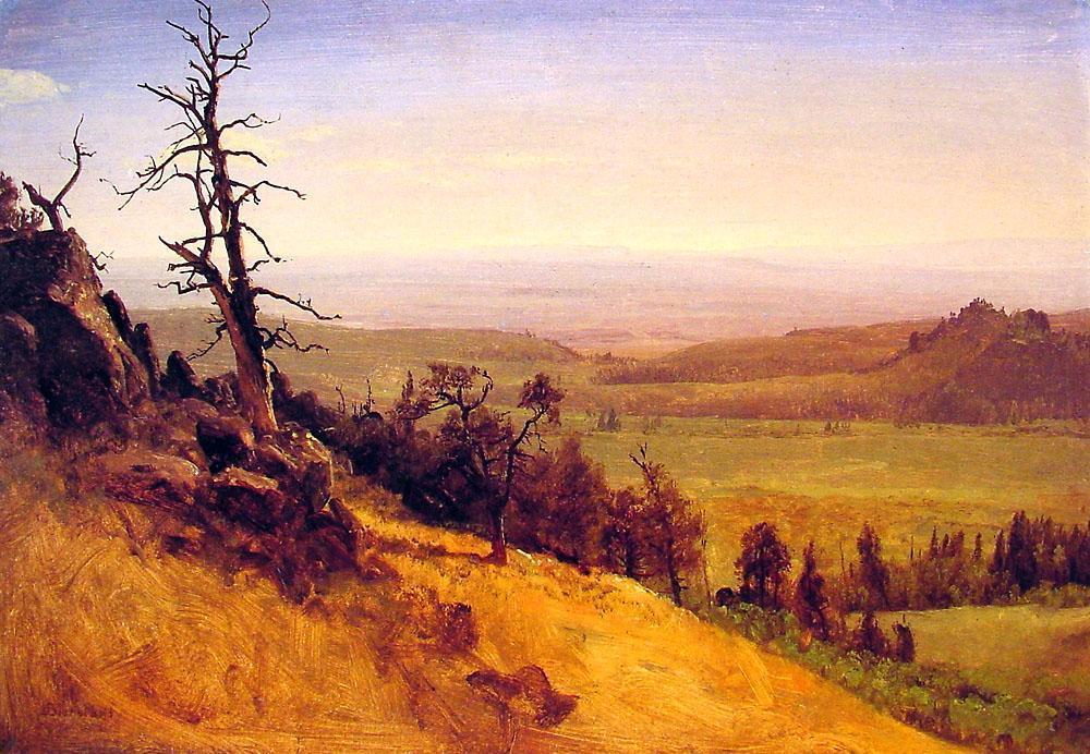 Nebraska Wasatch Mountains 1859   Albert Bierstadt   Oil Painting