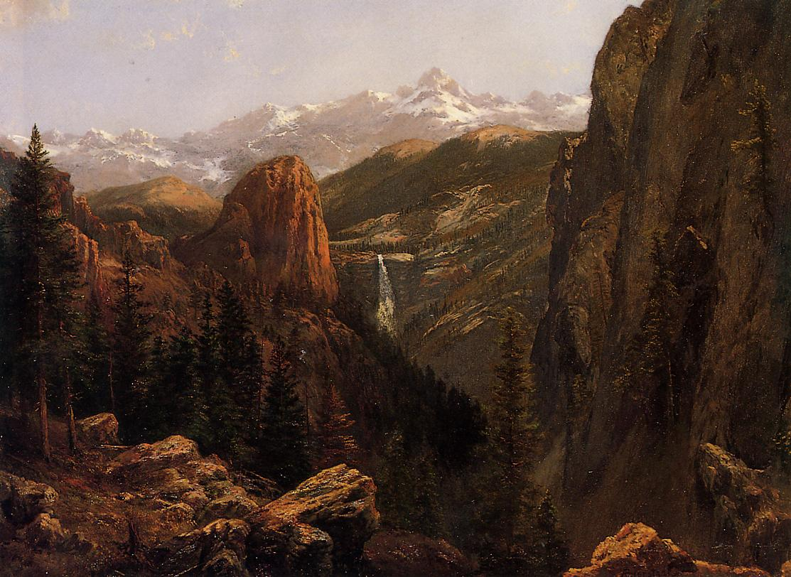 Nevada Falls Yosemite   Albert Bierstadt   Oil Painting