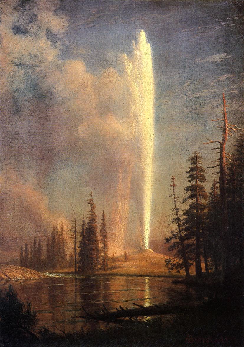 Old Faithful   Albert Bierstadt   Oil Painting