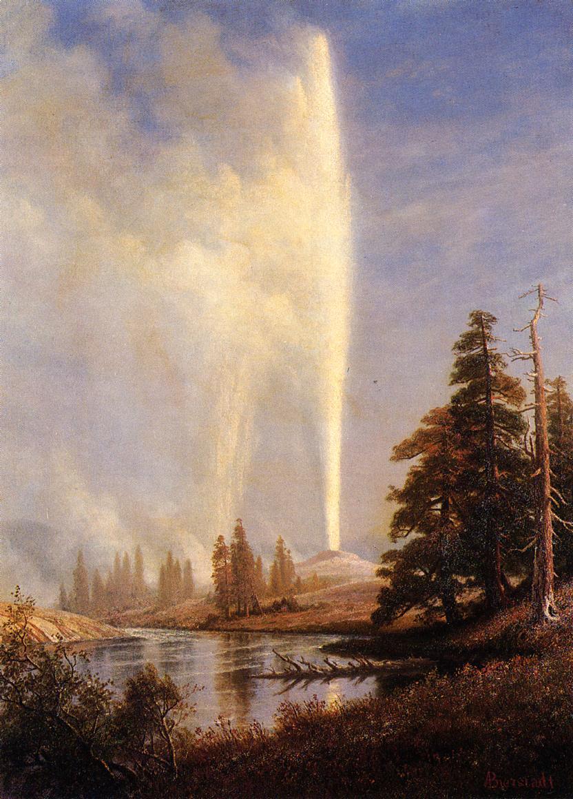 Old Faithful 2   Albert Bierstadt   Oil Painting