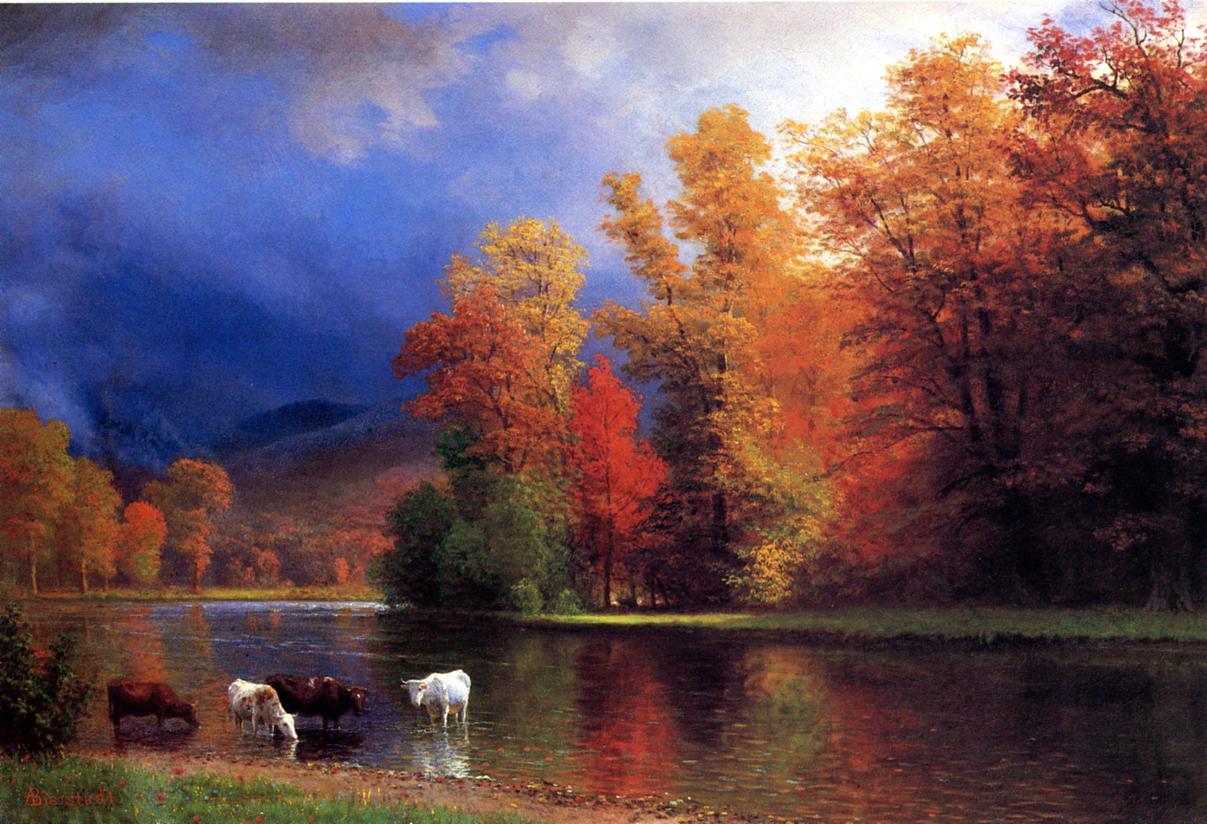 On the Saco   Albert Bierstadt   Oil Painting