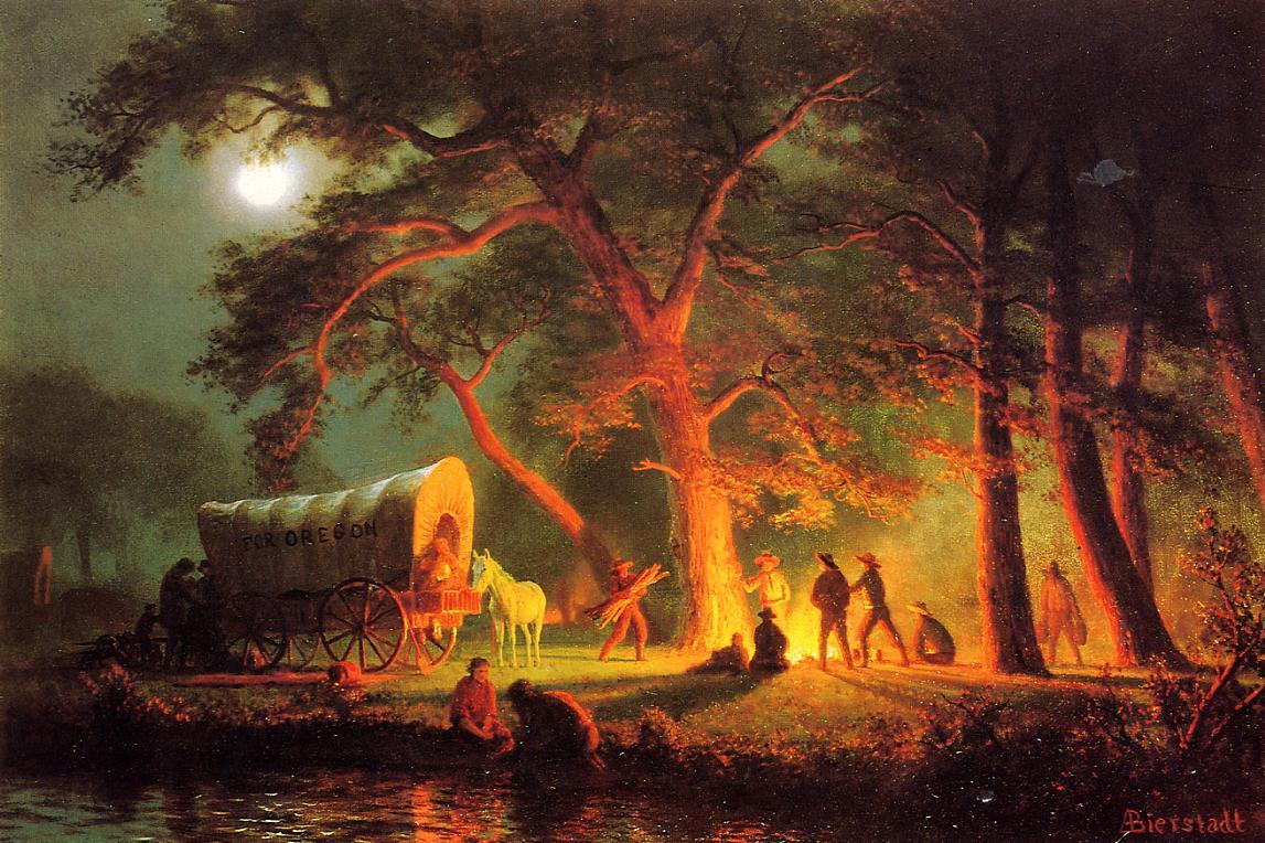 Oregon Trail   Albert Bierstadt   Oil Painting