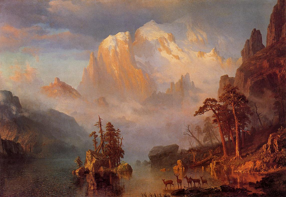 Rocky Mountains 1866 | Albert Bierstadt | Oil Painting