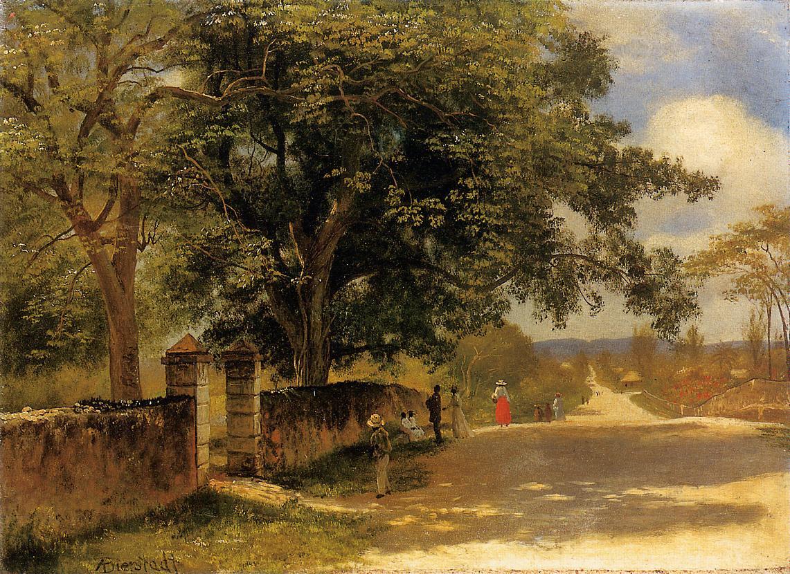Street in Nassau 1878 Painting   Albert Bierstadt Oil Paintings