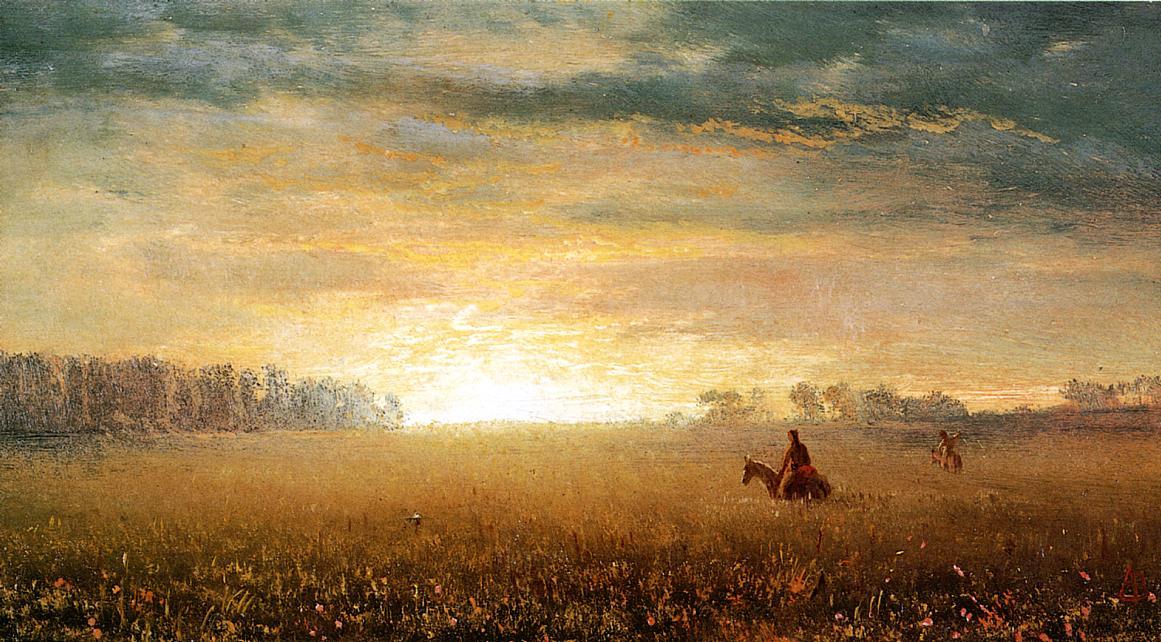 Sunset of the Prairies | Albert Bierstadt | Oil Painting