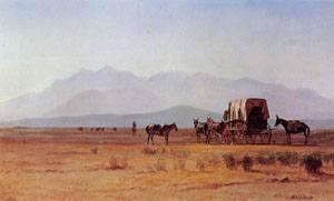 Surveyor's Wagon in the Rockies 1859 | Albert Bierstadt | Oil Painting