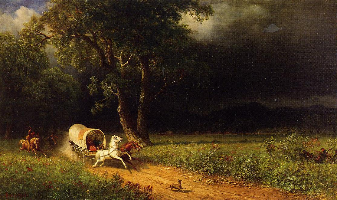 The Ambush 1870-1875 | Albert Bierstadt | Oil Painting