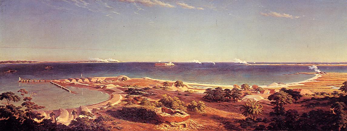 The Bombardment of Fort Sumter 1863 | Albert Bierstadt | Oil Painting