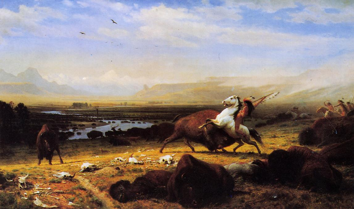 The Last of the Buffalo 1888 | Albert Bierstadt | Oil Painting