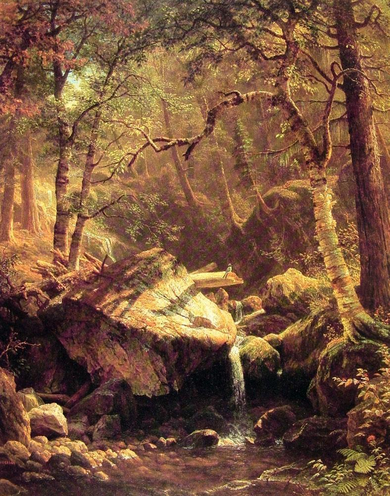 The Mountain Brook 1863 | Albert Bierstadt | Oil Painting