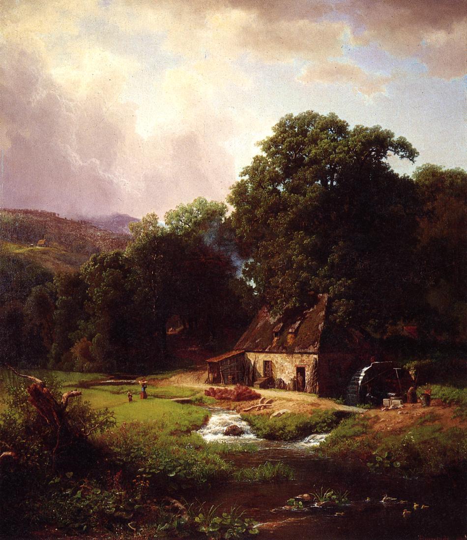 The Old Mill 1855 | Albert Bierstadt | Oil Painting