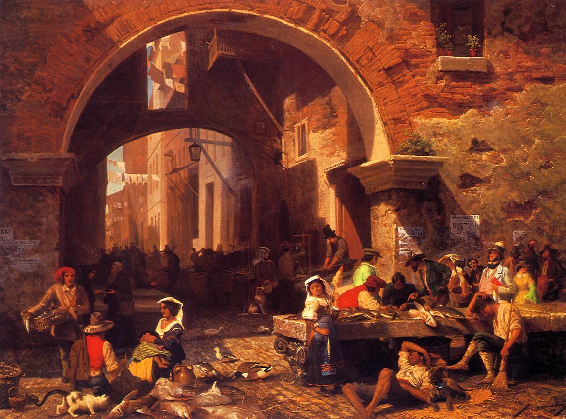 The Portico of Octavia 1855 | Albert Bierstadt | Oil Painting