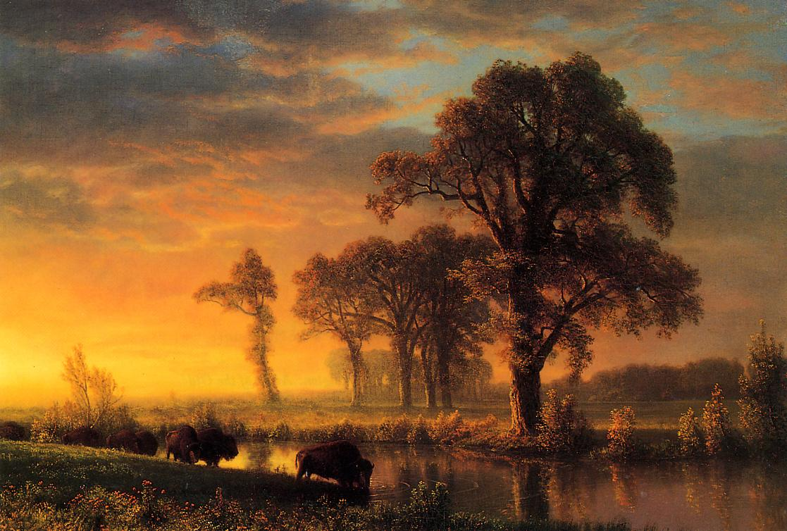 Western Kansas 1875 | Albert Bierstadt | Oil Painting