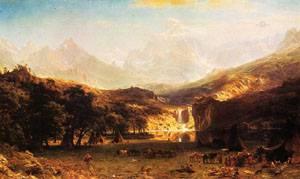 The Rocky Mountains Landers Peak 1863 | Albert Bierstadt | Oil Painting