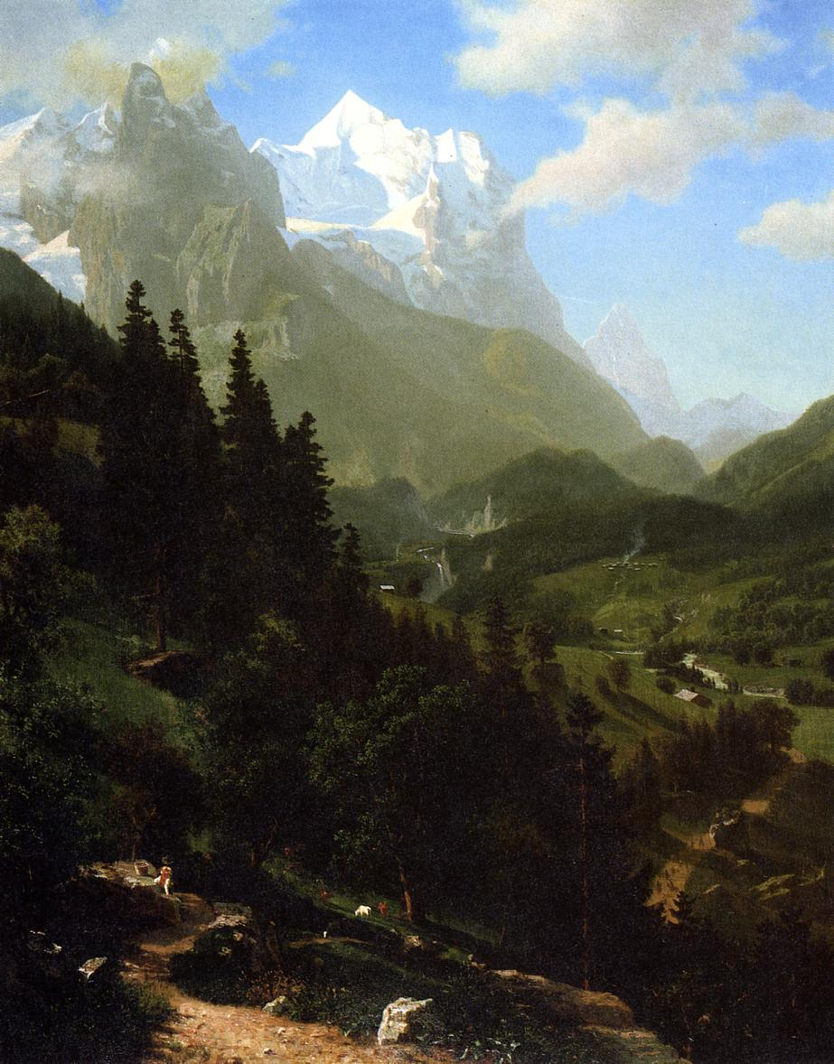 The Wetterhorn 1857 | Albert Bierstadt | Oil Painting