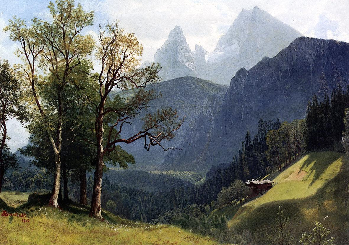 Tyrolean Lansscape 1868 | Albert Bierstadt | Oil Painting
