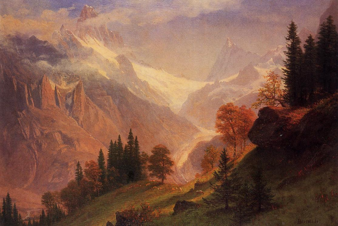 View of the Grundlewald | Albert Bierstadt | Oil Painting