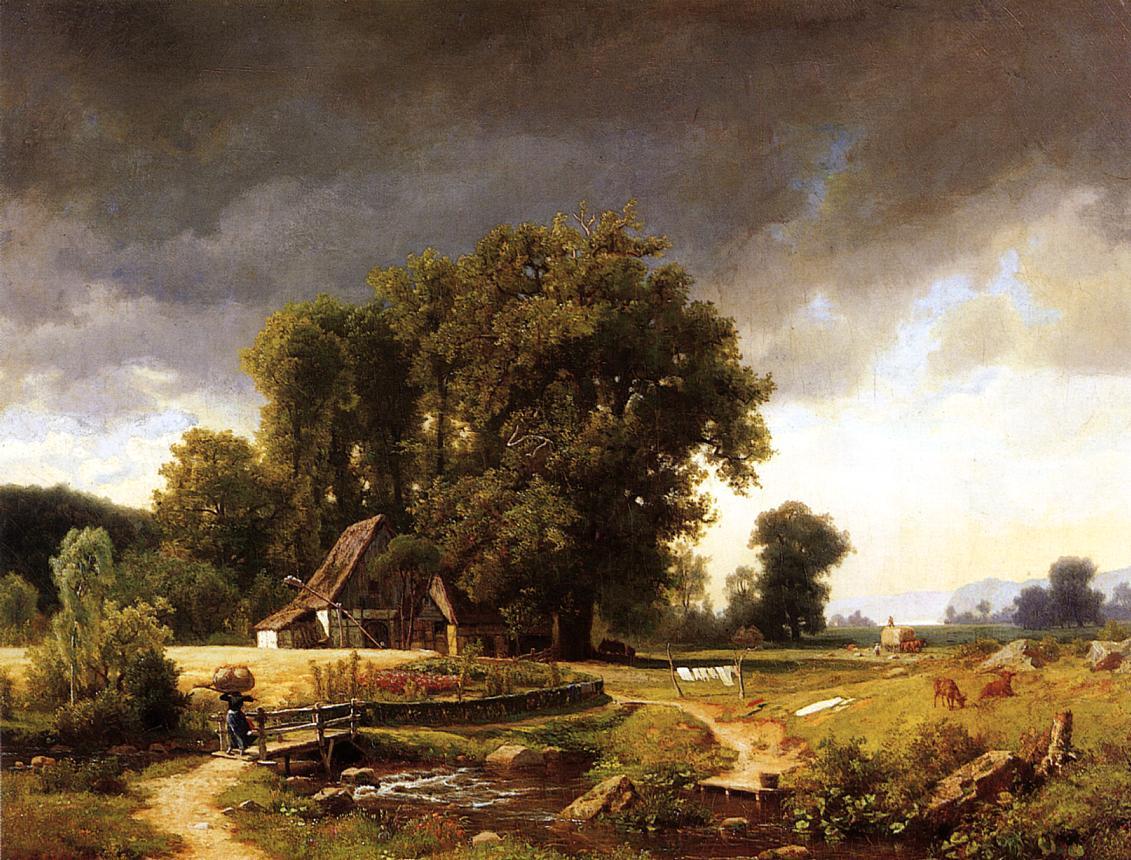 Westphalian Landscape 1855 | Albert Bierstadt | Oil Painting
