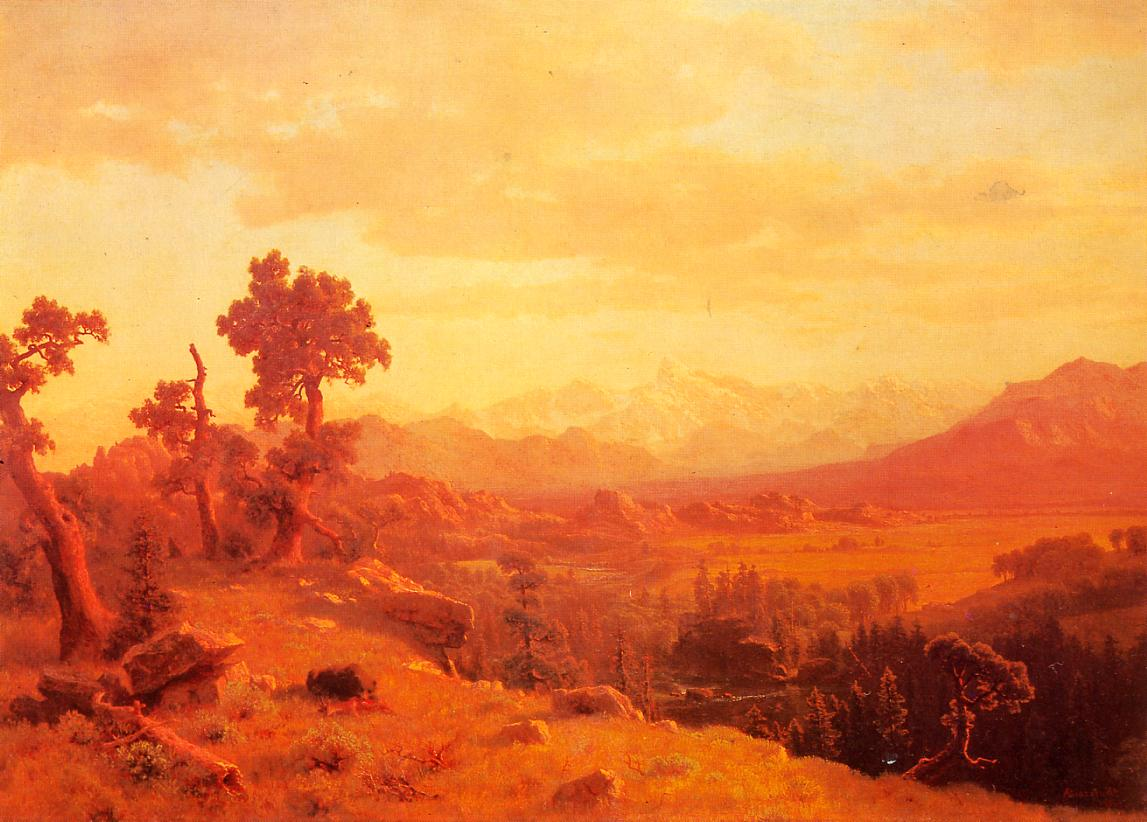 Wind River Country 1860 | Albert Bierstadt | Oil Painting