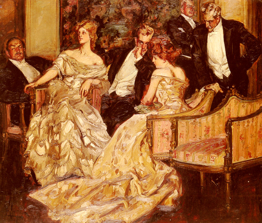 Three Is A Crowd | Albert B Wenzell | Oil Painting