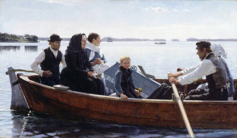 A Childs Funeral | Albert Edelfelt | Oil Painting