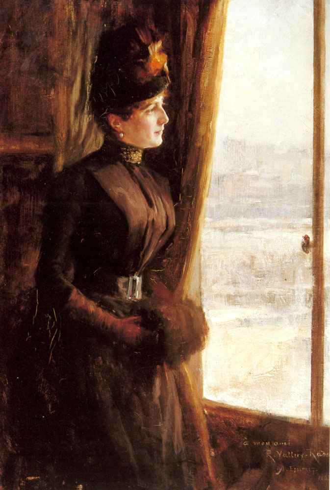 A Portrait Of Madame Vallery Radot | Albert Edelfelt | Oil Painting