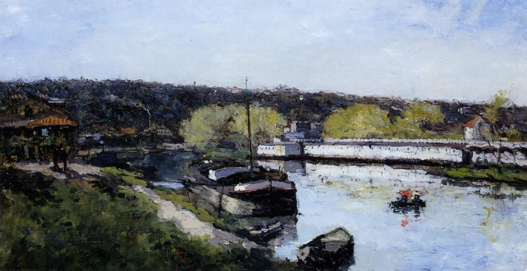 Barge on the Seine at Basd-Meudon | Albert Lebourg | Oil Painting