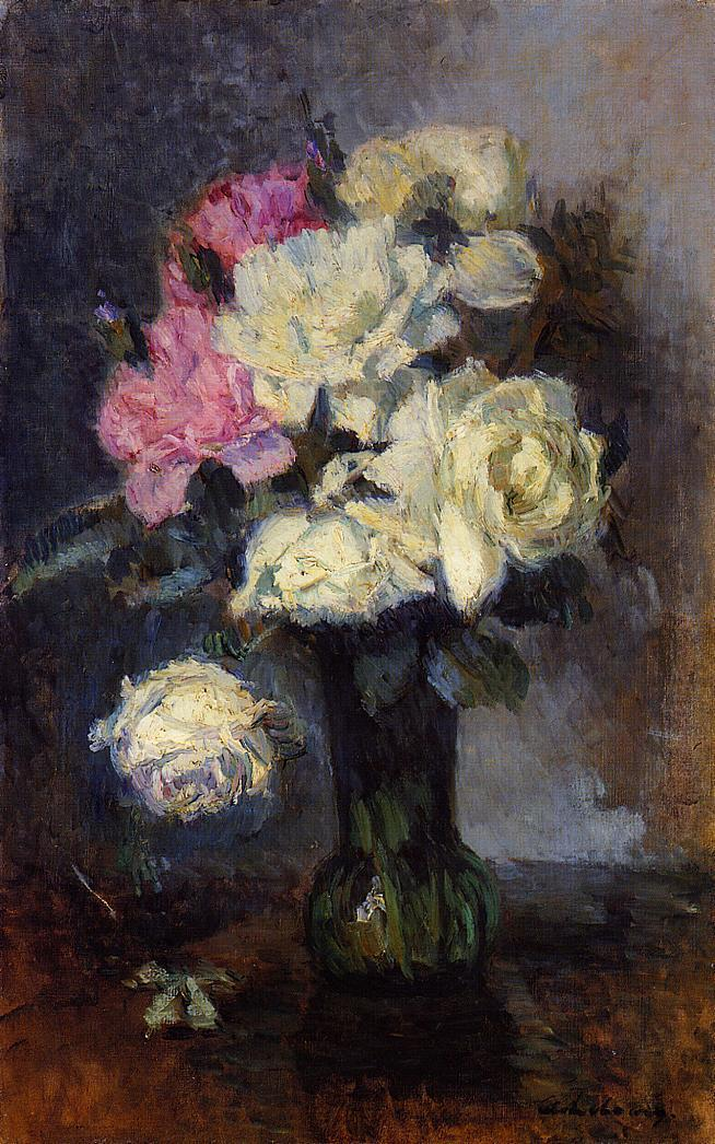 Bouqiet of Roses in a Vase | Albert Lebourg | Oil Painting