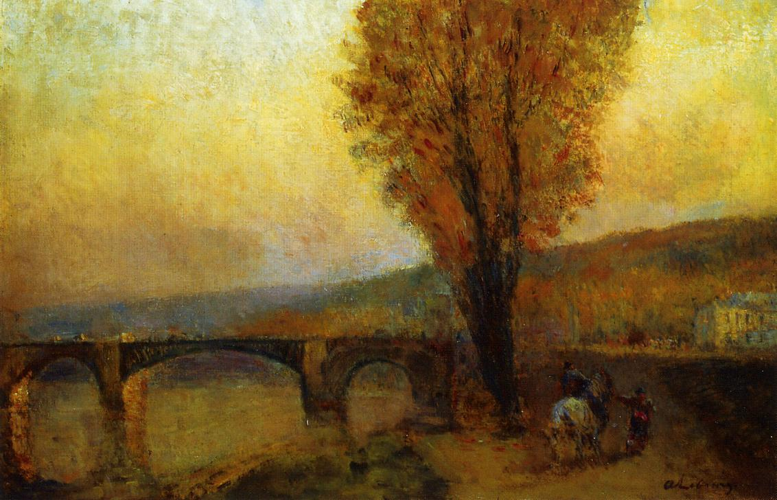 Bridge and Rider | Albert Lebourg | Oil Painting