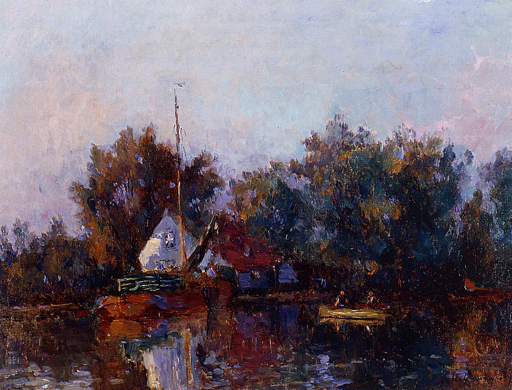 Canal in Holland near Rotterdam 1895 | Albert Lebourg | Oil Painting