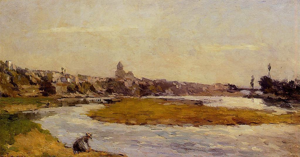 L'Allier a Pont du Chateau   Albert Lebourg   Oil Painting
