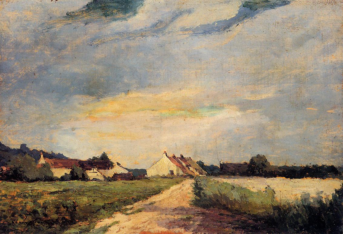 Landscape with Houses 1873 | Albert Lebourg | Oil Painting
