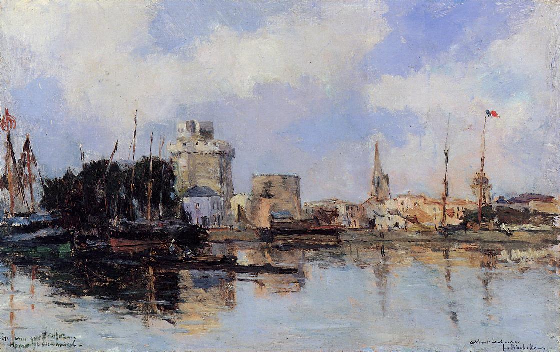 La Rochelle the Harbor Bright Sky | Albert Lebourg | Oil Painting