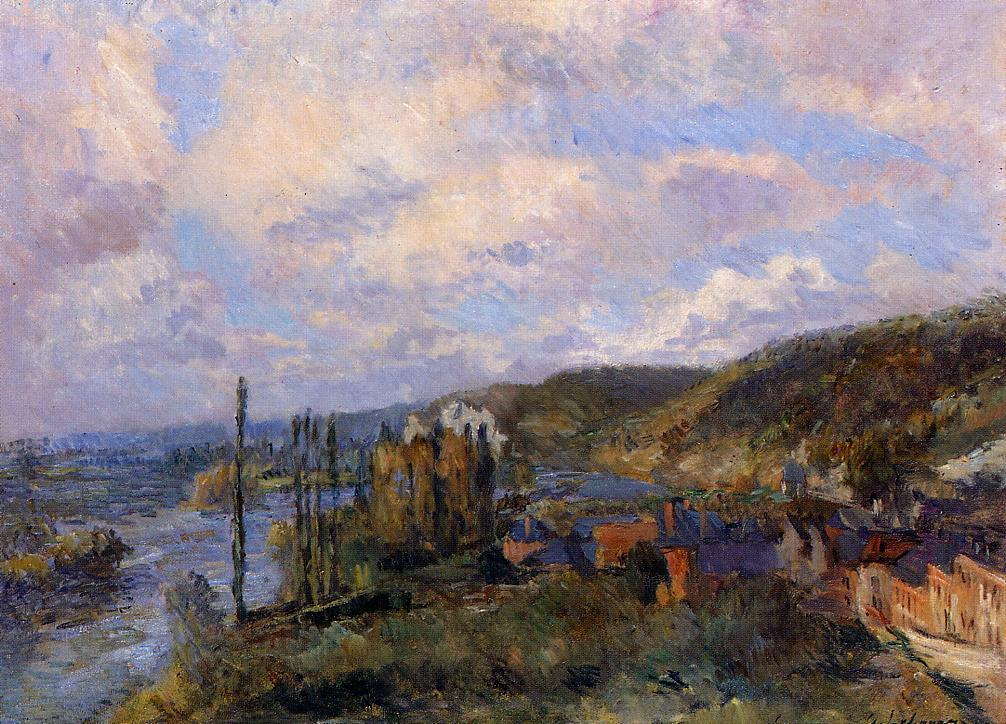 Near Rouen the Cliffs of Saint-Adrien | Albert Lebourg | Oil Painting