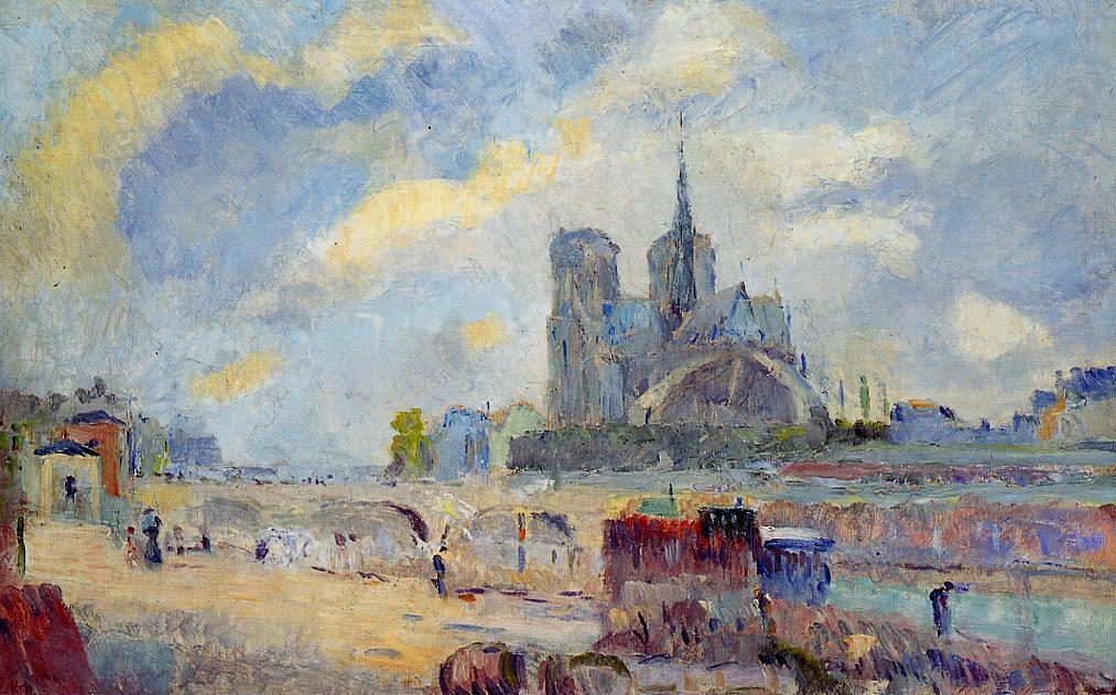 Notre-Dame de Paris and the Bridge of the Archeveche | Albert Lebourg | Oil Painting