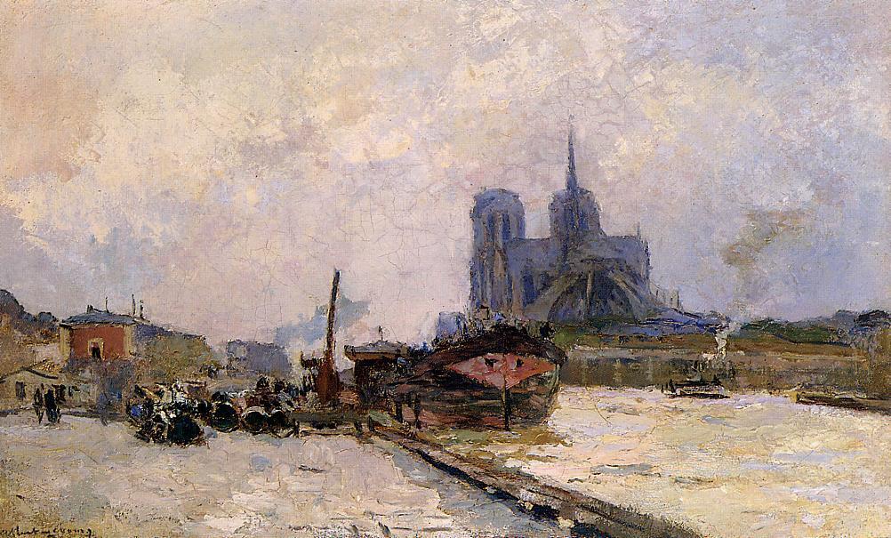 Notre Dame de Paris View from Pont de la Tournelle | Albert Lebourg | Oil Painting