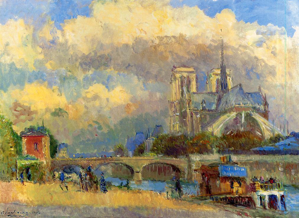Notre Dame de Paris 1914 | Albert Lebourg | Oil Painting