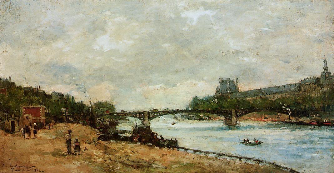 Paris the kBridge of Saint-Peres 1882 | Albert Lebourg | Oil Painting