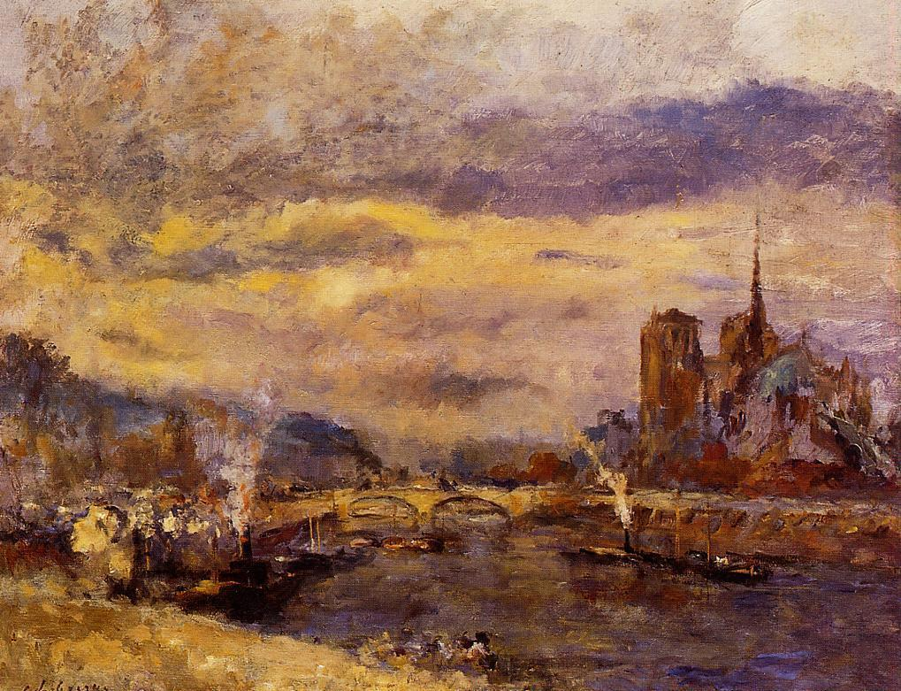 Paris the Seine and Notre-Dame | Albert Lebourg | Oil Painting