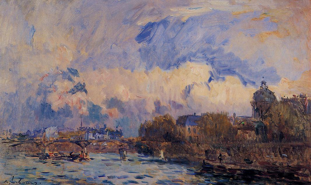 Paris the Seine at Pont des Arts and the Institute | Albert Lebourg | Oil Painting