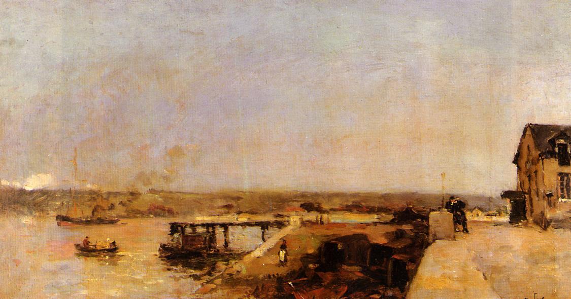 Port Scene Rouen | Albert Lebourg | Oil Painting