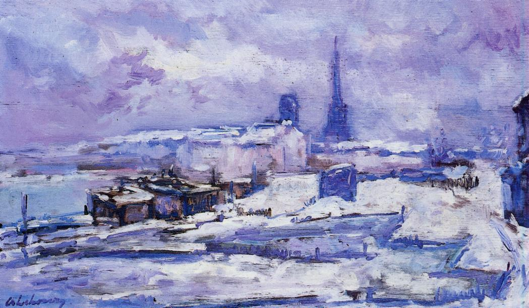 Rouen Snow Effect | Albert Lebourg | Oil Painting