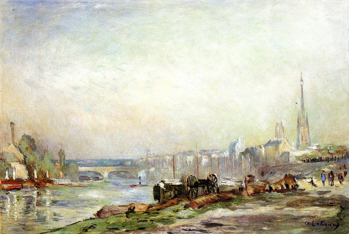 Rouen the Seine and the Cathedral | Albert Lebourg | Oil Painting