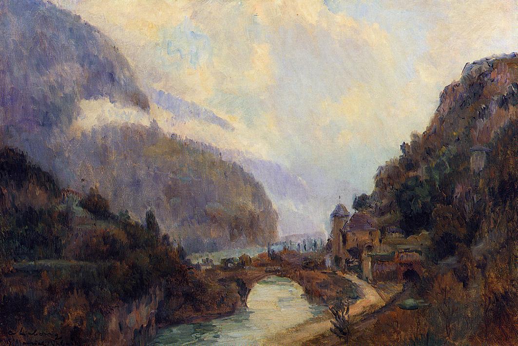Saint Maurice (Valais) 1902 | Albert Lebourg | Oil Painting